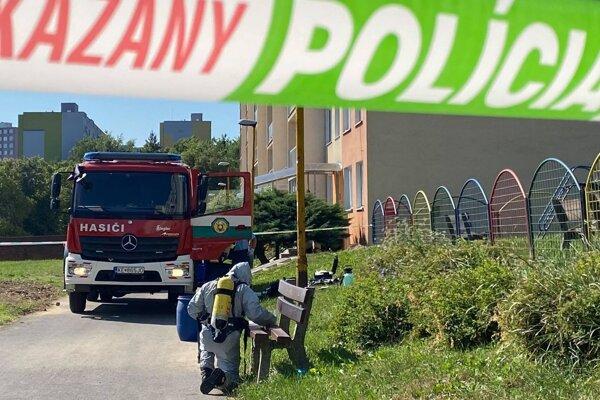 Zásah hasičov na Turgenevovej ulici.