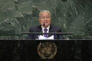 Salvador Sánchez Cerén bol prezidentom Salvádora v rokoch 2014 až 2019. Na snímke počas vystúpenia v OSN.