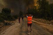 Ničivý požiar pri meste Manavgat.