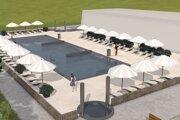 Štúdia nového bazéna v dolnokubínskom akvaparku.