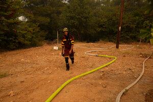 Grécky hasič.