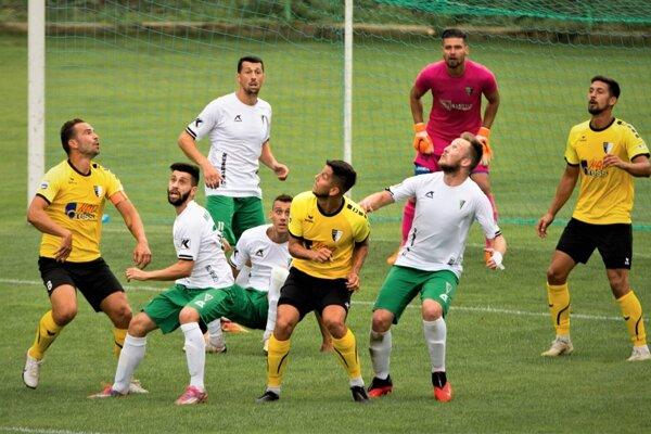 Momentka z pohárového zápasu Gbely - Myjava.