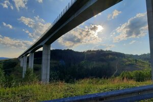 Most Valy – najvyšší most vstrednej Európe.