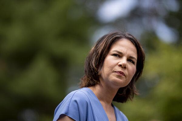 Kandidátka na post nemeckej spolkovej kancelárky za stranu Zelených Annalena Baerbocková.