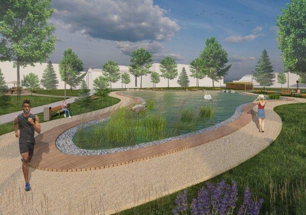 Jeden z troch návrhov na zmenu brownfieldu v Snine.