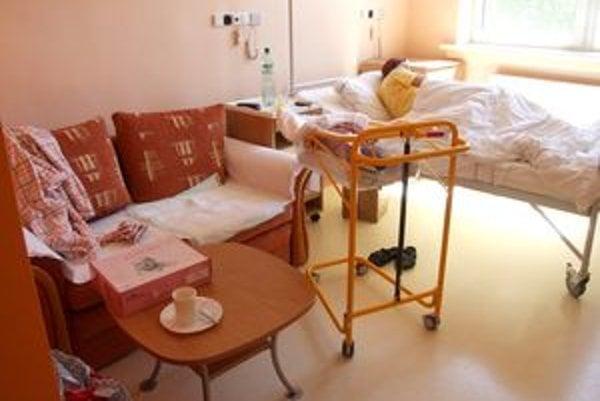Mamičky aj gynekologické pacientky si môžu za príplatok vybrať nadštandardnú izbu.