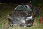 47-ročný vodič skončil s autom v priekope.