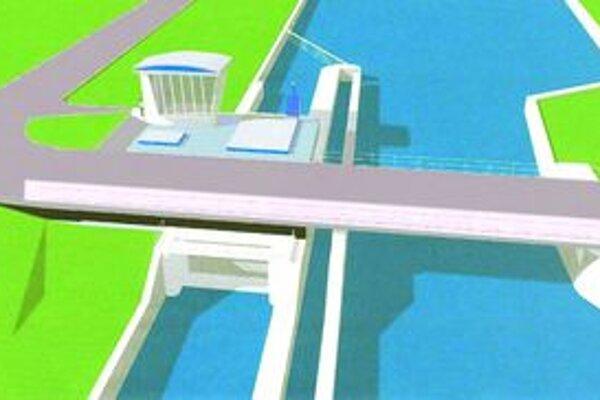 Plánovaná malá vodná elektráreň.