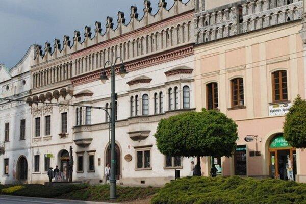 Rákociho palác, sídlo Krajského múzea v Prešove.