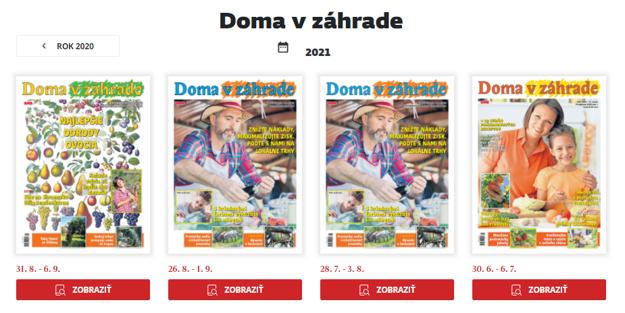 Magazín Doma v záhrade v PDF verzii
