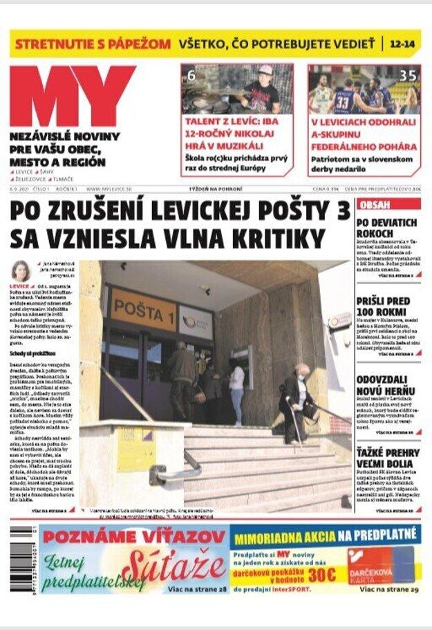 Dnešné vydanie novín.