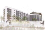 Vizualizácia projektu s pracovným názvom Polyfunkčný komplex Záhradnícka-Bajkalská.