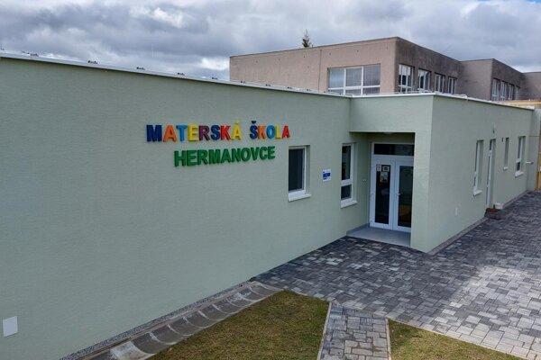 Nová Materská škola v Hermanovciach.