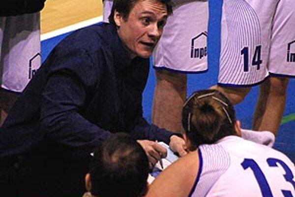 Tréner Nitry Martin Pospíšil bol spokojný s prvým polčasom.