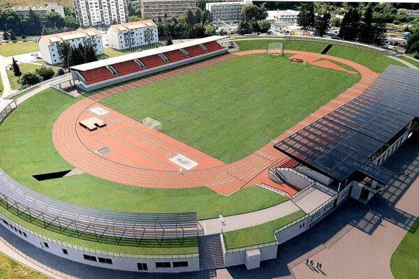 Vizualizácia vynoveného štadióna v Považskej Bystrici.