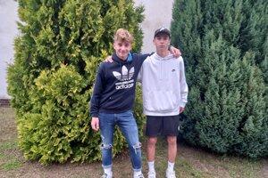 Marek Baričiak (vľavo) s kamarátom a spoluhráčom Tobiasom Brosom.