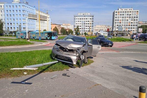 Ďalšia nehoda na problematickom mieste v Košiciach.