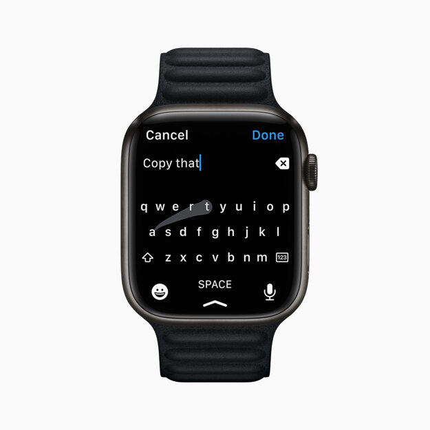 Apple Watch Series 7 ponúkne novú QWERTY klávesnicu.