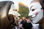 Busta anonymného tvorcu virtuálnej meny bitcoin.