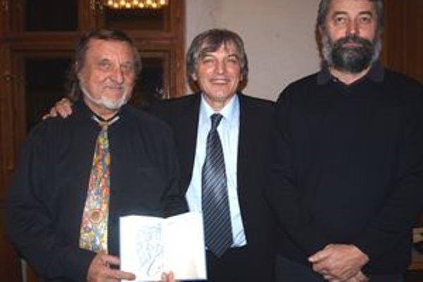 Krst knihy Z hlbín lásky - zľava Přemysl Bojar Povondra, Milan Vinco Částa a Ján Svítek.