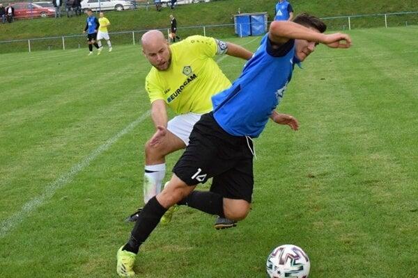 Momentka zo zápasu Nitrianske Sučany - Nitrianske Rudno.