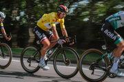 Peter Sagan v žltom drese na Okolo Slovenska 2021.