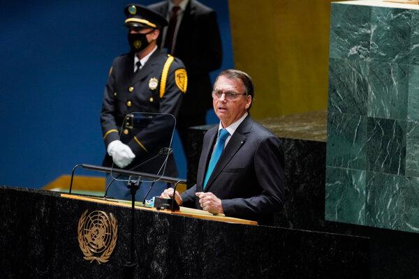 Brazílsky prezident Jair Bolsonaro v OSN.