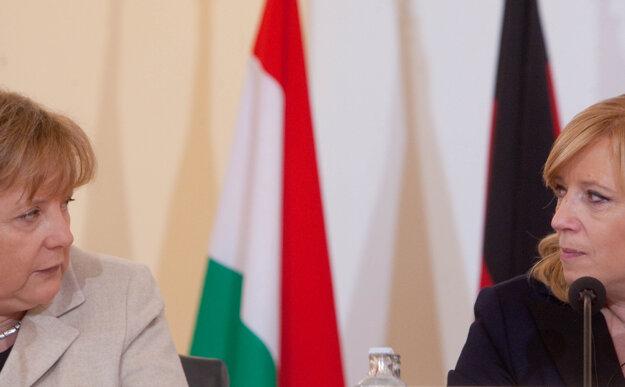 Merkelová a Iveta Radičová