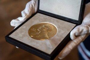 Medaila pre držiteľa Nobelovej ceny.