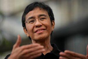 Filipínska novinárka a laureátka tohtoročnej Nobelovej ceny za mier Maria Ressová.