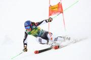 Petra Vlhová ide obrovský slalom v stredisku Sölden.