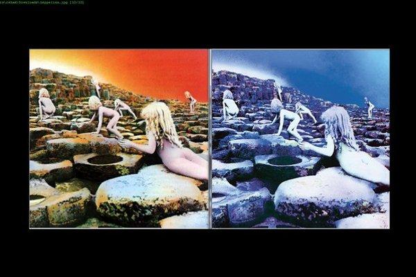 Tá istá fotografia, len inak spracovaná. Pôvodný a nový obal albumov Led Zeppelin v deluxe verziách jasne naznačuje, že s hudbou sa stalo to isté.