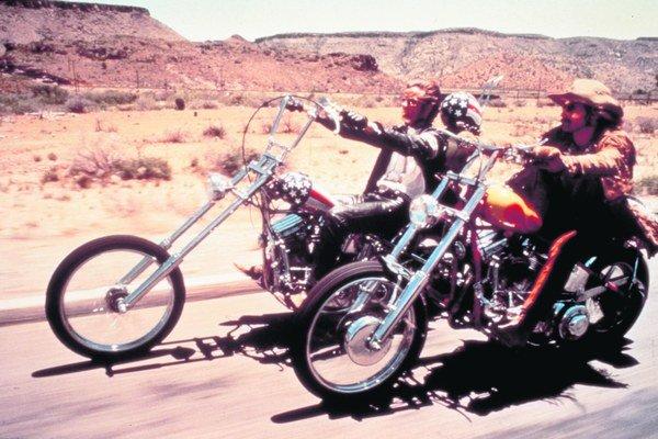 Peter Fonda a Dennis Hopper vo filme Easy Rider.