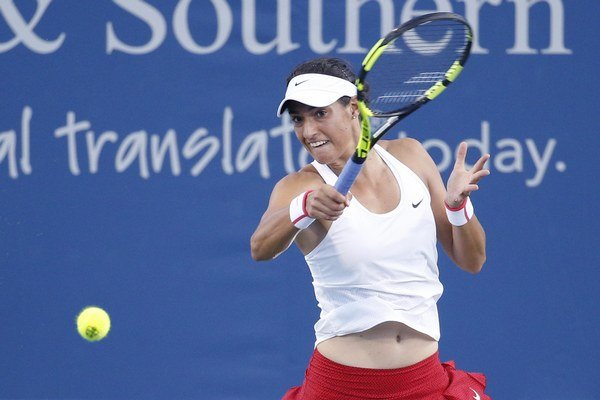 Caroline Garciová sa môže tešiť po zápase s Rybárikovou z postupu do 3. kola.