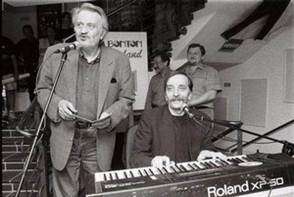 Milana Lasica a Jaro Filip v roku 1998 na krste reedície albumu Bolo nás jedenásť.