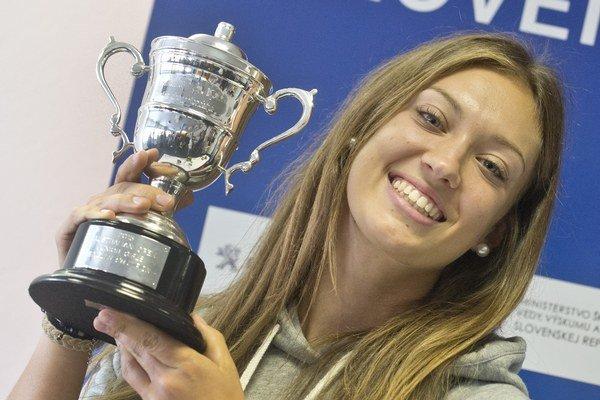 Tereza Mihalíková vyhrala v januári dvojhru junioriek na Australian Open.
