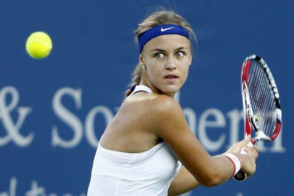 Slovenka Anna Karolína Schmiedlová aj napriek vypadnutiu vo štvrťfinále ukázala v Cincinnati výbornú formu.