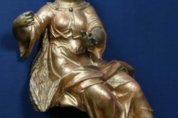 Dionýz Ignác Stanetti: Starozákonná svätica, okolo 1750. Z expozície Barokové umenie na Slovensku.