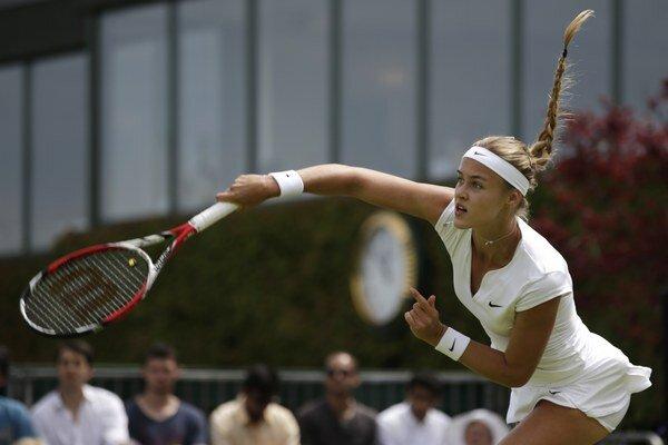 Karolína Schmiedlová sa vo Wimbledone predstavila už vo dvojhre. Rovnako ako Dominika Cibulková vypadla v prvom kole.