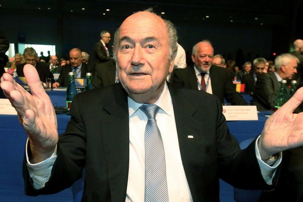 Šéf Svetovej futbalovej federácie Sepp Blatter.