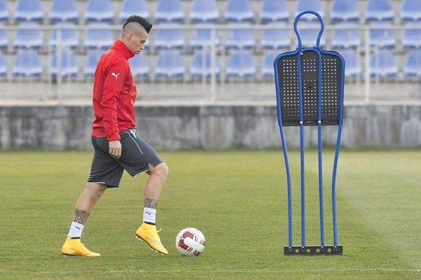Marek Hamšík počas tréningu.