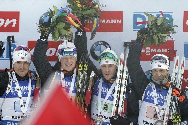 Nóri Ole Einar Björndalen, Erlend Bjöntegaard, Johannes Thingnes Boe a Emil Hegle Svendsen.