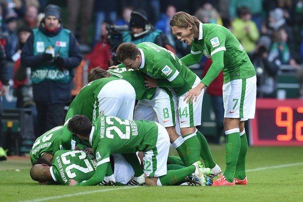 Futbalisti Werderu Brémy.