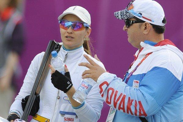 Daniela Barteková s trénerom Jurajom Sedlákom.