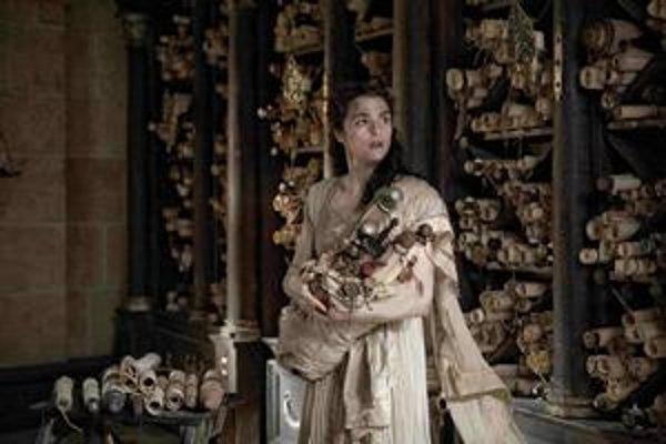 Britská herečka Rachel Weisz ako Hypatia.