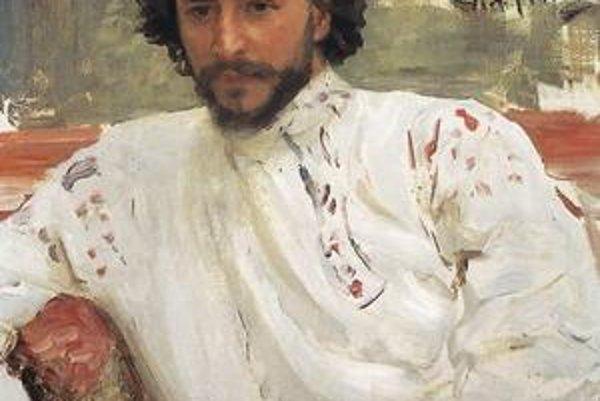 Andrejev na portréte od Iľju Repina.