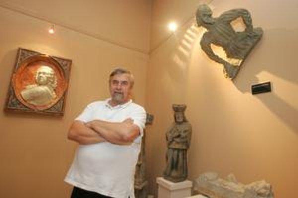 Peter Maráky ešte vo funkcii generálneho riaditeľa v priestoroch múzea.