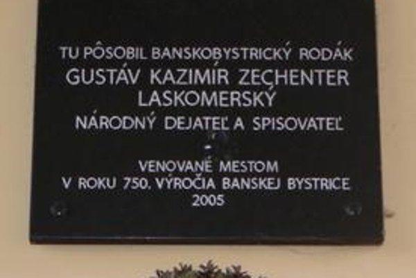 Laskomerského pamätná tabuľa v Banskej Bystrici.