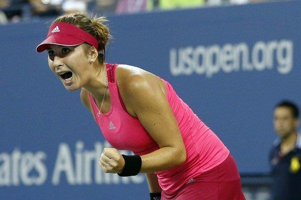 Takto sa Belinda Bencicová tešila po zápase na US Open. Zahrá si tam štvrťfinále.
