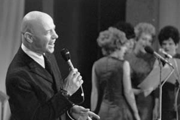 Karel Hála na speváckej súťaži Děčínska kotva v 70. rokoch .
